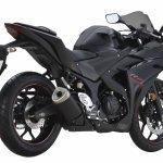 2018 Yamaha YZF-R25 Black press rear right quarter