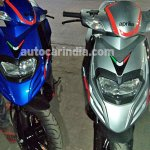 Aprilia SR 125 spied Silver and Blue front