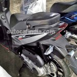 Aprilia SR 125 spied Silver and Blue rear left quarter