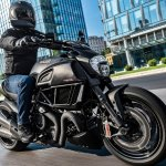 Ducati Diavel Carbon press front right quarter action