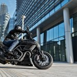 Ducati Diavel Carbon press right side action