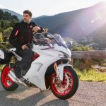 Ducati SuperSport S Star White Silk press front right quarter