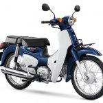 Honda Super Cub Blue White press shot