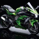 Kawasaki Ninja H2 SX SE press front right quarter