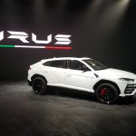 Lamborghini Urus front three quarters India launch