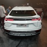 Lamborghini Urus rear elevated view India launch