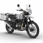Royal Enfield Himalayan Sleet press shot front right quarter