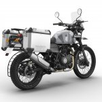 Royal Enfield Himalayan Sleet press shot rear right quarter