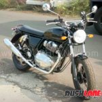 Royal Enfield Interceptor INT 650 spied after unveil front right quarter