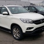 SsangYong Rexton Sports front three quarters spy shot