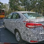 Toyota Yaris Ativ (Toyota Vios) spy shot India