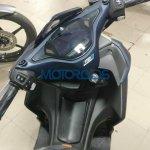 Yamaha Aerox 155 spied in India cockpit