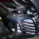 Yamaha Aerox 155 spied in India radiator