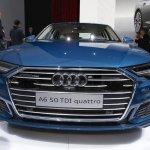 2018 Audi A6 front at 2018 Geneva Motor Show