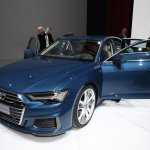 2018 Audi A6 front three quarters at 2018 Geneva Motor Show