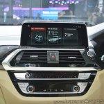 2018 BMW X3 centre console at Auto Expo 2018