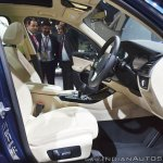 2018 BMW X3 front seats at Auto Expo 2018