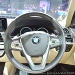 2018 BMW X3 steering wheel at Auto Expo 2018