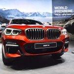 2018 BMW X4 M40d front fascia at 2018 Geneva Motor Show
