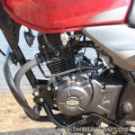 2018 Bajaj Discover 110 engine left side first ride review