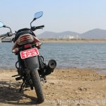 2018 Bajaj Discover 110 rear first ride review