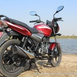 2018 Bajaj Discover 110 rear right quarter first ride review