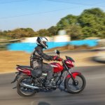 2018 Bajaj Discover 110 right side action first ride review