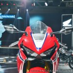 2018 Honda CBR1000RR Fireblade SP headlights at 2018 Auto Expo