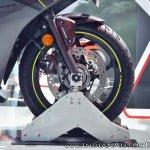 2018 Honda CBR250R front wheel at 2018 Auto Expo
