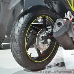 2018 Honda CBR250R rear wheel at 2018 Auto Expo