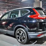 2018 Honda CR-V rear three quarters at Auto Expo 2018
