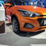2018 Hyundai i20 (facelift) Passion Orange with Black front fascia at Auto Expo 2018