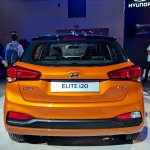 2018 Hyundai i20 (facelift) Passion Orange with Black rear at Auto Expo 2018