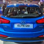 2018 Hyundai i20 (facelift) rear elevated view at Auto Expo 2018