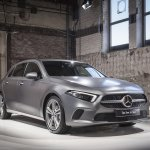 2018 Mercedes A-Class (W177) front three quarters world premiere