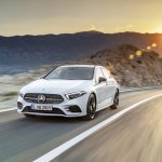 2018 Mercedes A-Class front three quarters