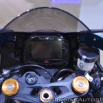 2018 Suzuki GSX-R1000R Blue cockpit at 2018 Auto Expo