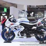 2018 Suzuki GSX-R1000R White left side at 2018 Auto Expo