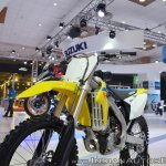 2018 Suzuki RM-Z250 front left quarter at 2018 Auto Expo