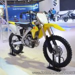 2018 Suzuki RM-Z250 front right quarter at 2018 Auto Expo