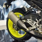 2018 Yamaha MT-10 exhaust at 2018 Auto Expo