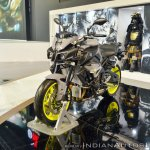 2018 Yamaha MT-10 front left quarter at 2018 Auto Expo