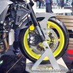 2018 Yamaha MT-10 front wheel at 2018 Auto Expo