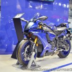 2018 Yamaha YZF-R1 front left quarter at 2018 Auto Expo