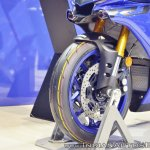 2018 Yamaha YZF-R1 front wheel at 2018 Auto Expo