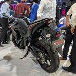 2018 Yamaha YZF-R3 Black rear left quarter at 2018 Auto Expo