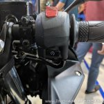 2018 Yamaha YZF-R3 Black right switchgear at 2018 Auto Expo