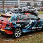 2019 Ford Focus camouflage rear angle