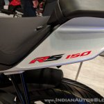 Aprilia RS 150 logo at 2018 Auto Expo