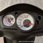 Aprilia SR 125 instrument cluster at 2018 Auto Expo